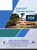 ICAR-CIFT Training Calendar