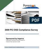 AR Ponemon 2009 PCI DSS Compliance Survey