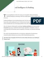 Impact of Artificial Intelligence in Banking - Venkat k - Medium