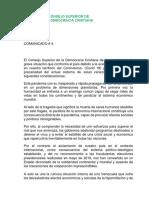 El Consejo Superior de la Democracia Cristiana de Venezuela sobre covid-19
