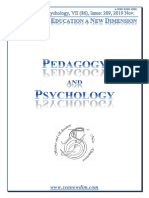 SCIENCE and EDUCATION a NEW DIMENSION PEDAGOGY and PSYCHOLOGY Issue 209