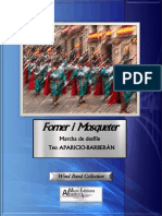 Forner i Mosqueter march for wind band Teo Aparicio