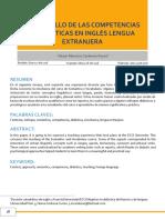 Desarrollo competencia linguistica - ensayo