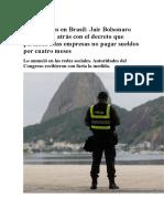 Impacto economico coronavirus bolsonaro