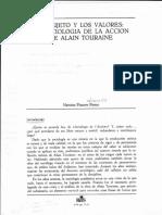 Narcizo Pizarro; El sujeto y los valores, la sociologia de la accion de Alain Touraine.pdf