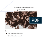 This review focuses on the effects of chocolate on acne