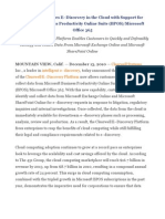 Clearwell Advances E–Discovery in the Cloud with Support for MS BPOS MS Office 365
