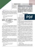 Decreto Supremo N° 010-2020-TR