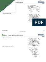 Scania series Workshop Manual - Coolant radiator, hybrid vehicle