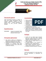 Ficha 03 MT Monopolar Cu EPR-PVC RAD sin PTA 5 kV