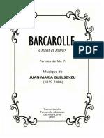 BARCAROLLE (Juan María GUELBENZU). Fernando Abaunza