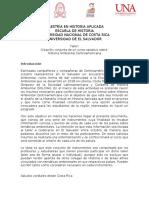 Maestría en Historia Aplicada-Taller El Salvador