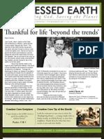November 2009 Blessed Earth Newsletter