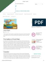 Acid Rain - ssznotes