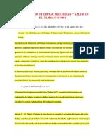 CUESTIONARIO N° 1 DE REPASO SEGURIDAD Y SALUD EN EL TRABAJO IC0052