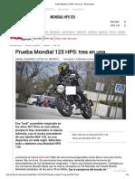 Analisis  Moto Racer Mondial 125 HPS_ tres en una - Fórmulamoto