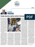 Israel anuncia vacina contra coronavirus