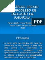 PRINCÍPIOS GERAIS DO PROCESSO DE INCLUSÃO EM PARAFINA