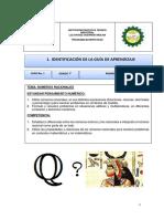 Guía de Matemáticas 7 Periodo 1
