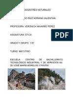 Desastres Naturales Proyecto