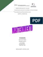 MANTENIMIENTO