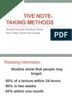 Effective Note Taking Methods
