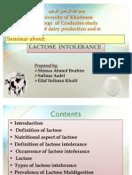 Lactose Intolerancve