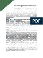 CONTRATO Y POLÍTICAS DE PUBLICACIÓN DE AVISOS CLASIFICADOS