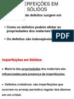 5-Imperfeições em Sólidos