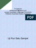 Statistik Run Test Satu Sampel