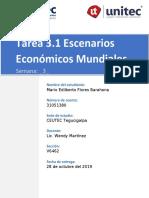TAREA 3.1 ESCENARIOS ECONOMICOS MUNDIALES NEGOCIOS INTERNACIONALES
