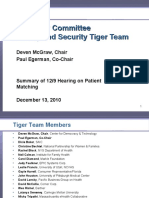 Privacy and Security Tiger Team - Summary of Patient Matching Hearing 121310