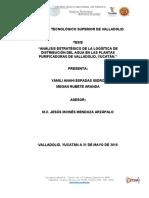 Análisis Estratégico De La Logística De Distribución Del Agua En Las Plantas Purificadoras
