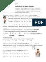 Múltiplos, Factores y Divisores, Guia inicial 6° básico