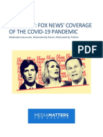 Fox News' Coverage of the COVID-19 Pandemic