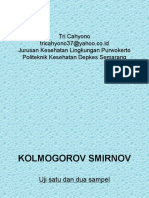 Statistik Kolmogorov Smirnov Uji Kesesuaian Satu & Dua Sampel