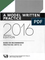A Model Written Practice 2016 Edition