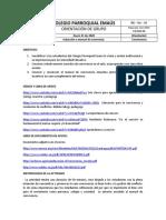 COLEGIO PARROQUIAL EMAÚS Orientación de grupo induccion manual de conviencia