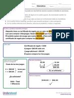 Organizadores graficos para ayudar a los chicos en matematicas - Desglosar situación problemática.