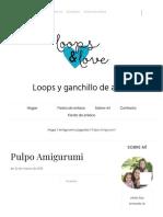 Pulpo Amigurumi Loops & Love Crochet