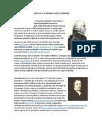 PADRES DE LA ECONOMÍA CLÁSICA Y MODERNA