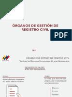 Órganos de Gestión de Registro Civil