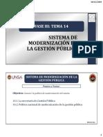 Sistema de modernizacion de la gestion publica