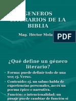 GenerosLiterarios de la Biblia.ppt