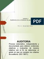 AUDITORIAS DE UN SISTEMA DE GESTIÓN