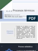 2.5.1 Procesos Térmicos