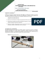 Calibración de un sensor  de Ultrasonido