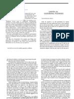 Juan Donoso Cortés - Carta al Cardenal Fornari