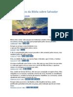 17 Versículos da Bíblia sobre Salvador