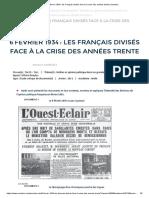 6février 1934_ les Français divisés face à la crise des années trente _ Annabac